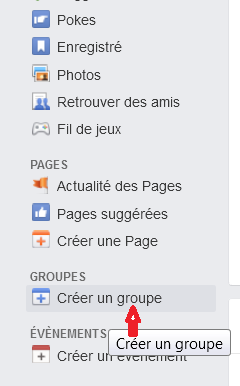 creer groupe Facebook